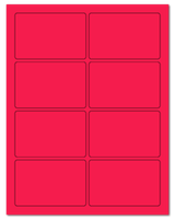 "3.75"" X 2.438"" Fluorescent Pink Sheets"