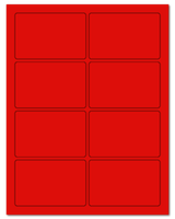 """3.75"""" X 2.438"""" Fluorescent Red Sheets"""