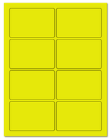 "3.75"" X 2.438"" Fluorescent Yellow Sheets"