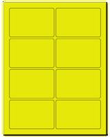 "3.75"" X 2.438"" Fluorescent Yellow Sheets"