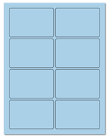 "3.75"" X 2.438"" Pastel Blue Sheets"