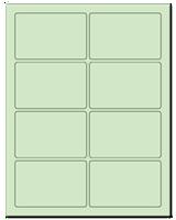 "3.75"" X 2.438"" Pastel Green Sheets"