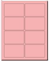 "3.75"" X 2.438"" Pastel Pink Sheets"