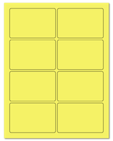 "3.75"" X 2.438"" Pastel Yellow Sheets"