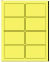 "3.75"" X 2.438"" Pastel Yellow Sheets"