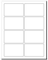 """3.75"""" X 2.438"""" White Matte Sheets"""