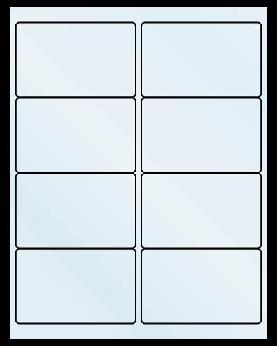 "4"" X 2.5"" Frosty (Matte) Clear Sheets"