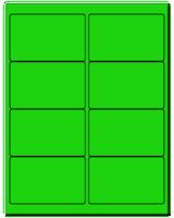 """4"""" X 2.5"""" Fluorescent Green Sheets"""