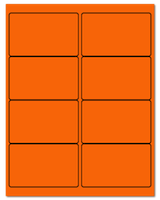"4"" X 2.5"" Fluorescent Orange Sheets"