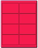 "4"" X 2.5"" Fluorescent Pink Sheets"