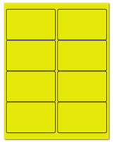 "4"" X 2.5"" Fluorescent Yellow Sheets"