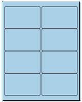 "4"" X 2.5"" Pastel Blue Sheets"