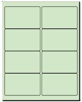 "4"" X 2.5"" Pastel Green Sheets"