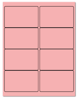 "4"" X 2.5"" Pastel Pink Sheets"