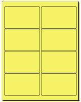 "4"" X 2.5"" Pastel Yellow Sheets"
