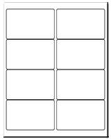 """4"""" X 2.5"""" White Matte Sheets"""