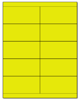 "4.25"" X 2"" Fluorescent Yellow Sheets"