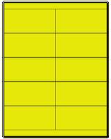 "4.25"" X 2"" Fluorescent Yellow Sheets"