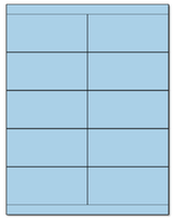 "4.25"" X 2"" Pastel Blue Sheets"