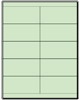 "4.25"" X 2"" Pastel Green Sheets"