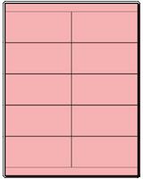 "4.25"" X 2"" Pastel Pink Sheets"