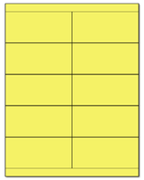 "4.25"" X 2"" Pastel Yellow Sheets"