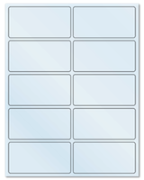 "4"" X 2"" Frosty (Matte) Clear Sheets"