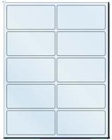 "4"" X 2"" Frosty (Matte) Clear Sheets"