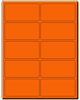 "4"" X 2"" Fluorescent Orange Sheets"