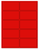 """4"""" X 2"""" Fluorescent Red Sheets"""