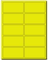 "4"" X 2"" Fluorescent Yellow Sheets"