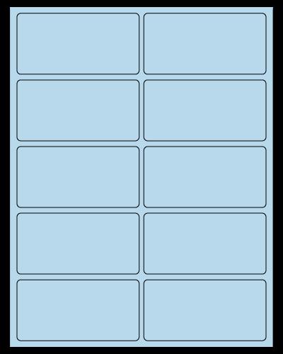 "4"" X 2"" Pastel Blue Sheets"