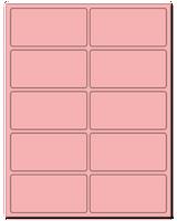 "4"" X 2"" Pastel Pink Sheets"
