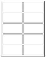 """4"""" X 2"""" White Matte Sheets"""