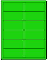 """4"""" X 1.75"""" Fluorescent Green Sheets"""