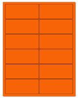 "4"" X 1.75"" Fluorescent Orange Sheets"