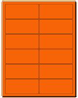 "4"" X 1.75"" Fluorescent Orange Sheets"