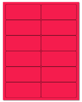 "4"" X 1.75"" Fluorescent Pink Sheets"