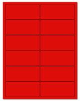 "4"" X 1.75"" Fluorescent Red Sheets"