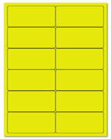 "4"" X 1.75"" Fluorescent Yellow Sheets"
