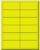 "4"" X 1.75"" Fluorescent Yellow Sheets"