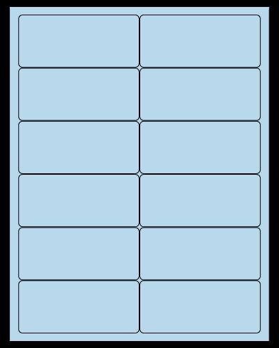 "4"" X 1.75"" Pastel Blue Sheets"