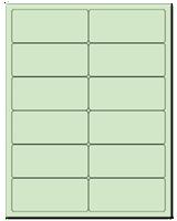 "4"" X 1.75"" Pastel Green Sheets"