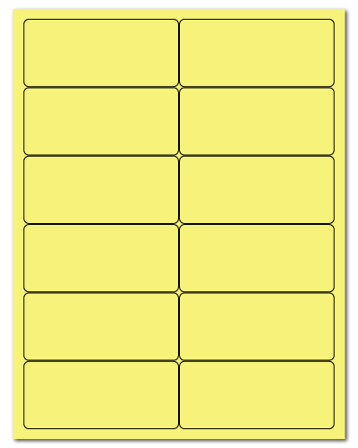 "4"" X 1.75"" Pastel Yellow Sheets"