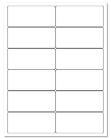 """4"""" X 1.75"""" White Matte Sheets"""