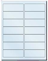 "4"" X 1.4375"" Frosty (Matte) Clear Sheets"