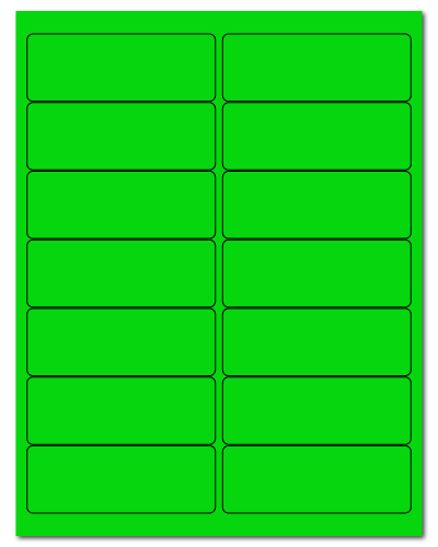 """4"""" X 1.4375"""" Fluorescent Green Sheets"""