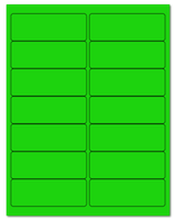 "4"" X 1.4375"" Fluorescent Green Sheets"
