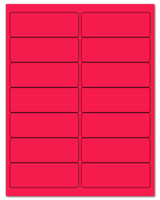 "4"" X 1.4375"" Fluorescent Pink Sheets"