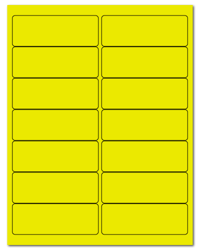 "4"" X 1.4375"" Fluorescent Yellow Sheets"